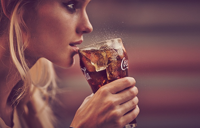 coca cola ad drink
